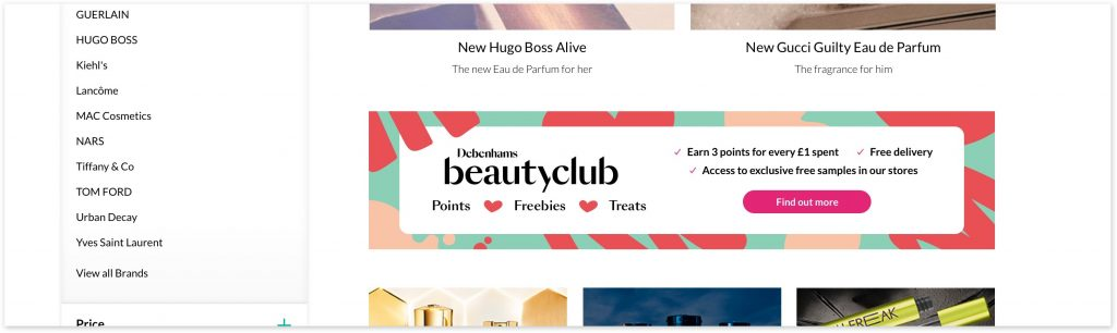 Beauty Club banner on TCAT